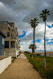 Houses along the boardwalk in Venice Beach  Royalty Free Stock Photography