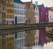 Houses along canal Stock Photos