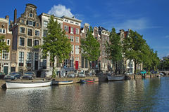Houses along the canals in Amsterdam Royalty Free Stock Image
