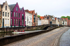Houses along the canals of Brugge Stock Image