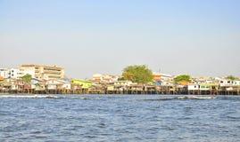 Houses along the Chao Phraya River. Royalty Free Stock Photo