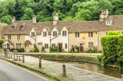 Stone homes in Castle Combe Village, Wiltshire, England Stock Photos