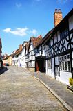 Houses along Mill Street, Warwick. Royalty Free Stock Images