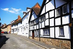 Houses along Mill Street, Warwick. Stock Photography