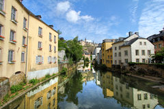 Houses along the river Royalty Free Stock Images