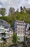 Houses along the Rur river, Monschau, Germany Royalty Free Stock Photo