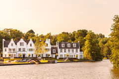 Houses alongside the Dutch Vecht river Stock Photography