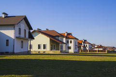 Houses in american style Royalty Free Stock Photo