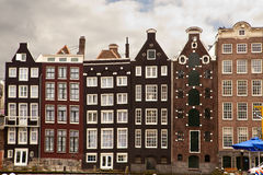Houses in Amsterdam. A row of terraced houses in Amsterdam Royalty Free Stock Photo