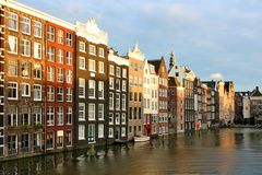 Houses in Amsterdam Stock Photos