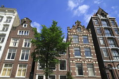 Houses in Amsterdam, Holland Royalty Free Stock Photos