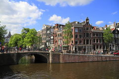 Houses in Amsterdam, Holland Royalty Free Stock Photography