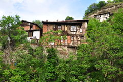 Houses in Anatolia. Typical Anatolian houses in Turkey Royalty Free Stock Photography