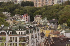 Houses in the Andrew's Descent. In Kyiv Royalty Free Stock Photo