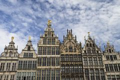 Houses in Antwerp royalty free stock images