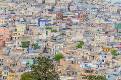 Only houses and apartments. Photo of a Urfa taken from the city castle. Only houses and one tree compose the picture Royalty Free Stock Images