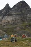 Houses in Appilatoq, Greenland Royalty Free Stock Photo