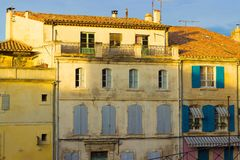 Houses in Arles, Provence stock images