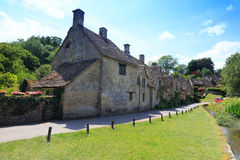 Houses of Arlington Row in Bibury Village, England Royalty Free Stock Image