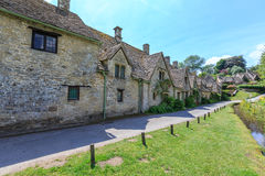 Houses of Arlington Row in Bibury Village, England Royalty Free Stock Images