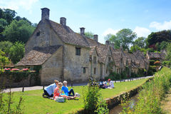Houses of Arlington Row in Bibury Village, England Royalty Free Stock Photography