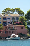 Houses in Assos marina Stock Photography