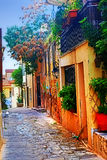Houses in Athens Stock Photos