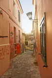 Houses in Athens Royalty Free Stock Photos