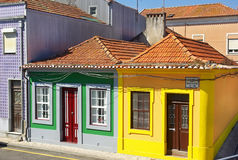 Houses of Aveiro. Royalty Free Stock Images