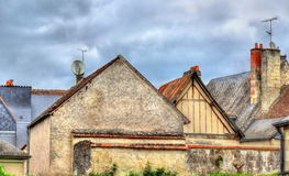 Houses at Azay-le-Rideau in the Loire Valley, France Stock Image