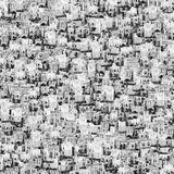 Houses background. Abstract buildings black and white background Stock Photo