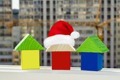 The houses on the background of building a new home . Stock Image