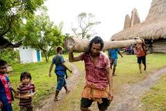 Building a new house Kodi, Sumba Island, Nusa Tenggara Royalty Free Stock Image