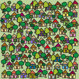 Houses background. For web and graphic design Royalty Free Stock Images