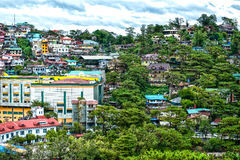 Houses in Baguio. A view of houses perched on the hillside in Baguio, Phillippines Royalty Free Stock Photo