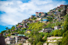 Houses in Baguio. A view of houses perched on the hillside in Baguio, Phillippines royalty free stock photos