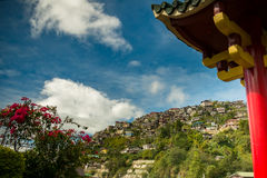 Houses in Baguio. A view of houses perched on the hillside in Baguio, Phillippines Stock Photo