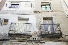 Houses with balcony Royalty Free Stock Photo
