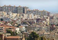 Houses -  Barcelona Cityscape, Apartments Stock Photography