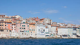 Houses in the bay of rovinj Royalty Free Stock Photo