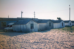 Houses by the beach Royalty Free Stock Photography