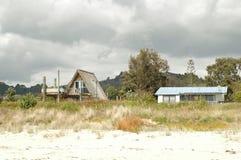 Houses on beach Stock Photos