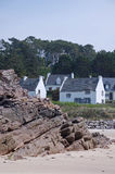 Houses with beach view Royalty Free Stock Photography