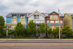 Houses in The Beaches Toronto Royalty Free Stock Photo