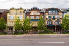 Houses in The Beaches Toronto Stock Image