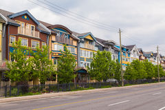 Houses in The Beaches Toronto Stock Photography