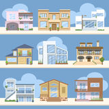 Houses with beautiful colors and designs Stock Image