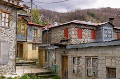 Houses in the beautiful Milia village, near Metsovo, Greece Stock Image