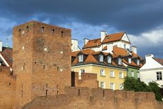 Warsaw Old Town Walls Stock Image