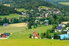houses berg Arkivbild
